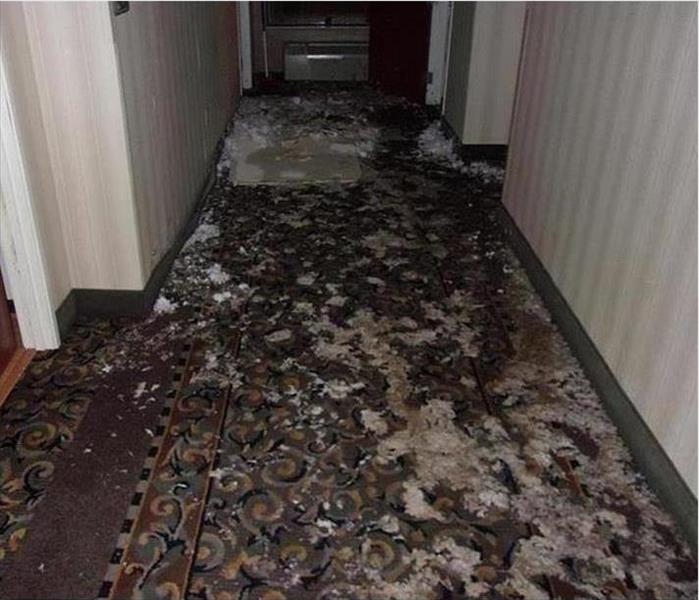 A Valdese Motel Sprinkler System and Water Damage Before