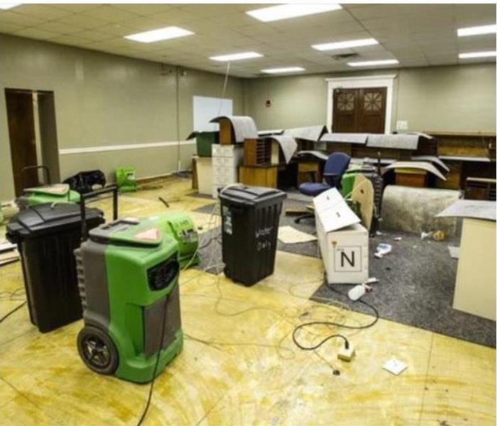 Morganton Water Damage to an Office