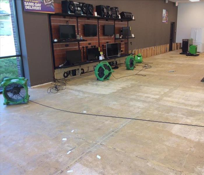 Drying Water Damage at a Commercial Building